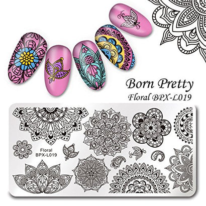 Born Pretty BPX-L019 Floral Stamping Plate