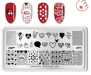 Born Pretty BP-L008 Valentine's Day Stamping Plate