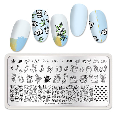 Born Pretty Animal L005 Stamping Plate