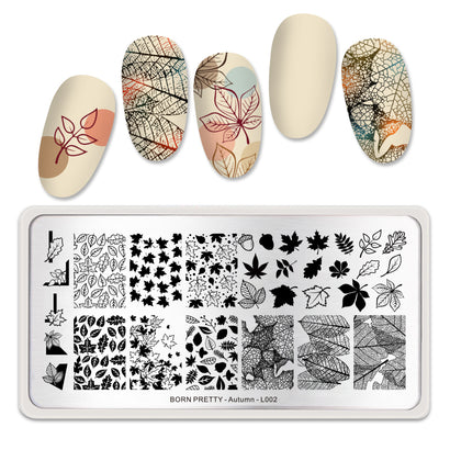 Born Pretty Autumn L002 Stamping Plate