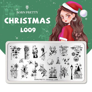 Born Pretty Christmas L009 Stamping Plate