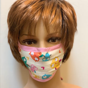 Pink Owls Cloth Face Mask