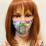 Song Birds Fitted Fabric Face Mask