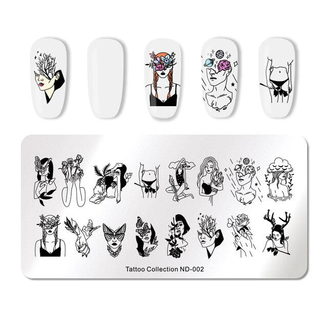 Nicole Diary ND 002 Tattoo Stamping Plate