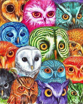 Owl Family Portrait Diamond Painting Kit