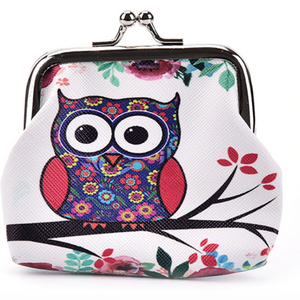 Floral Owl Small Coin Purse