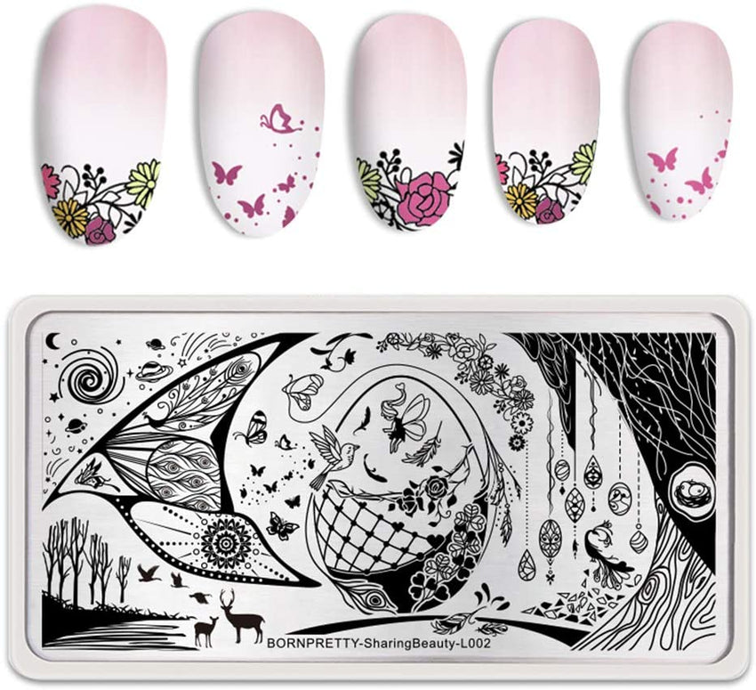 Born Pretty L002 Sharing Beauty Stamping Plate
