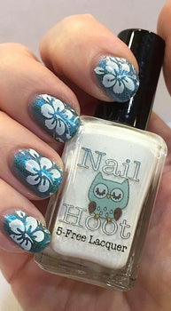 Bath And Beauty - 5 Free White Stamping Polish By Nail Hoot