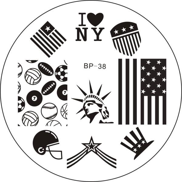 Born Pretty BP 38 Stamping Plate