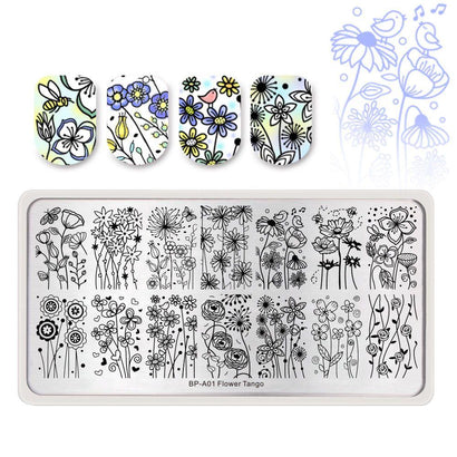 Born Pretty BP-A01 Flower Tango Stamping Plate