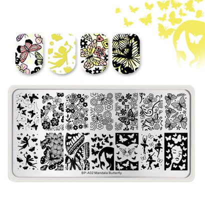 Born Pretty BP-A02 Mandala Butterfly Stamping Plate