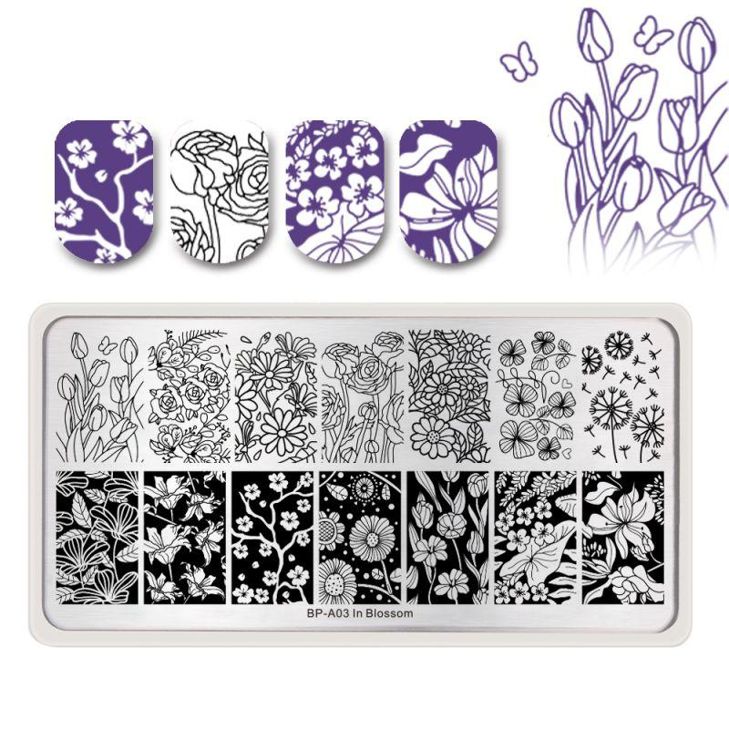 Born Pretty BP-A03 In Blossom Stamping Plate