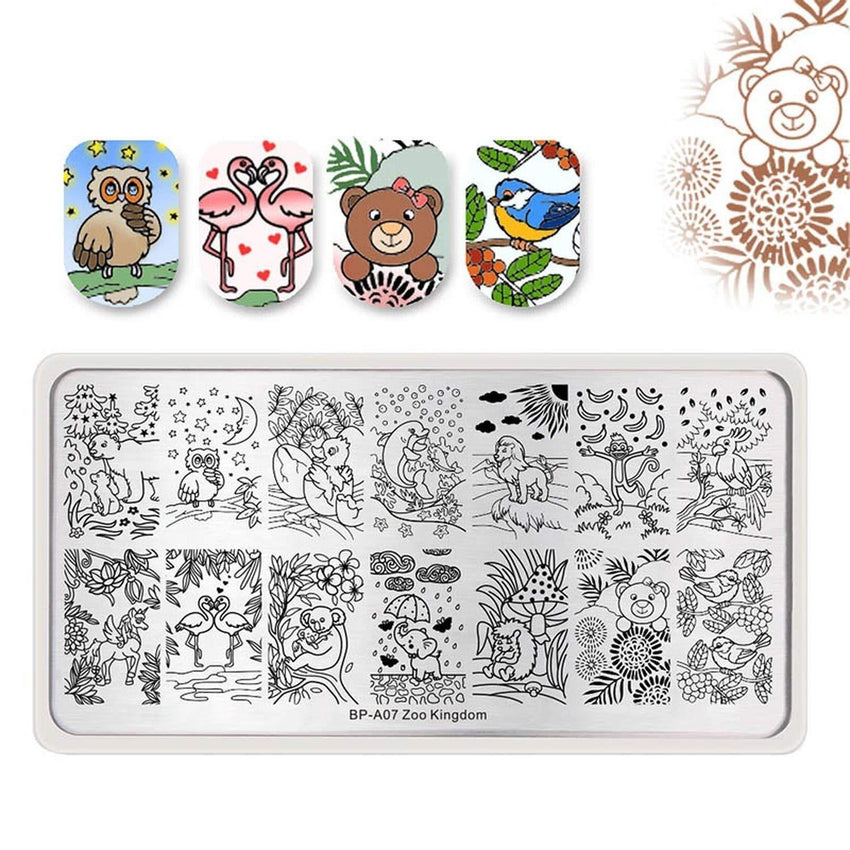 Born Pretty BP-A07 Zoo Kingdom Stamping Plate