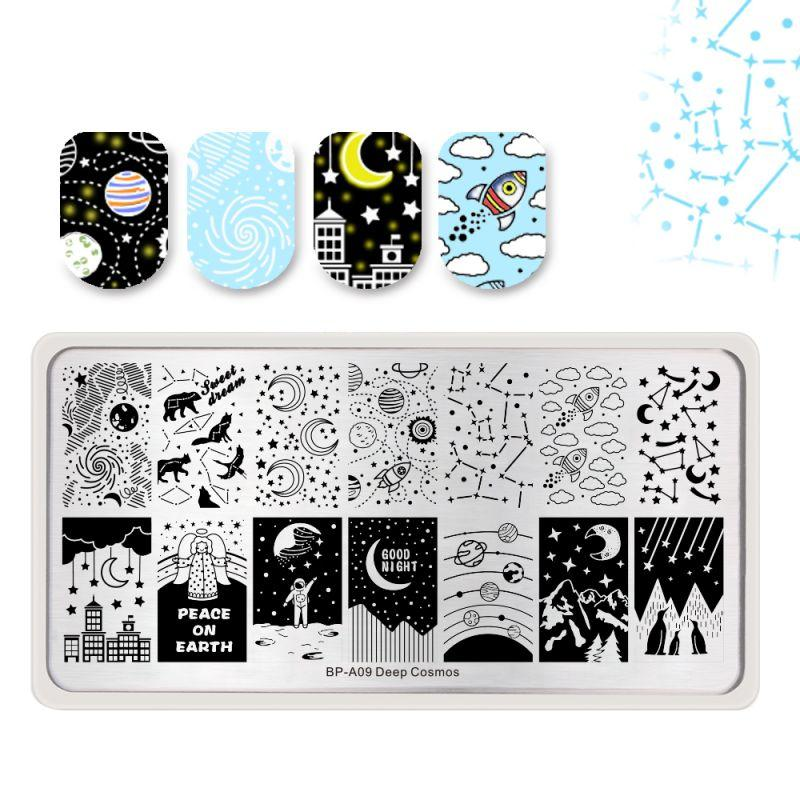 Born Pretty BP-A09 Deep Cosmos Stamping Plate