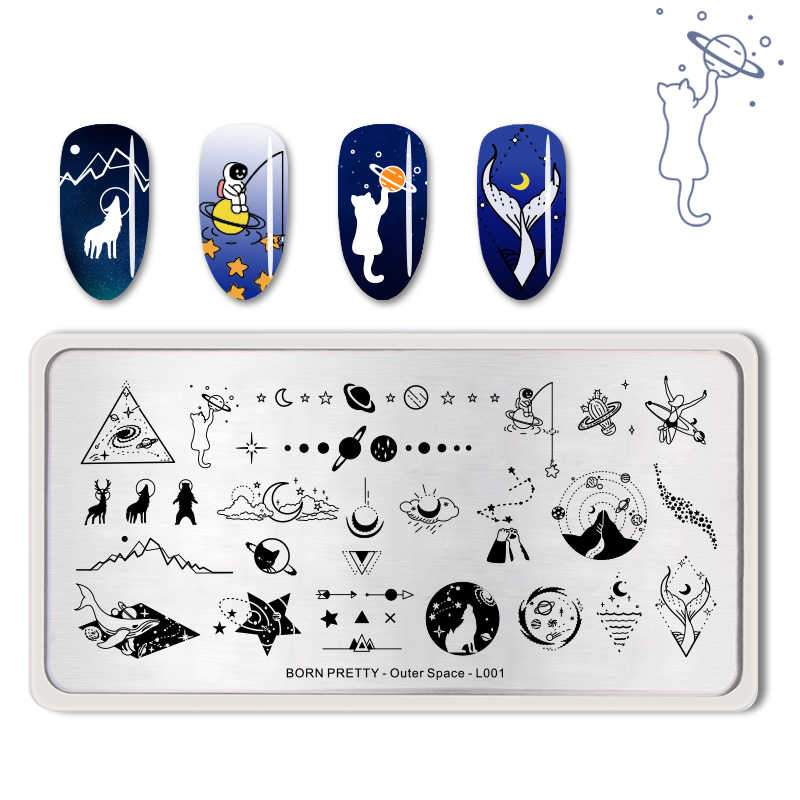 Born Pretty BP-L001 Outer Space Stamping Plate