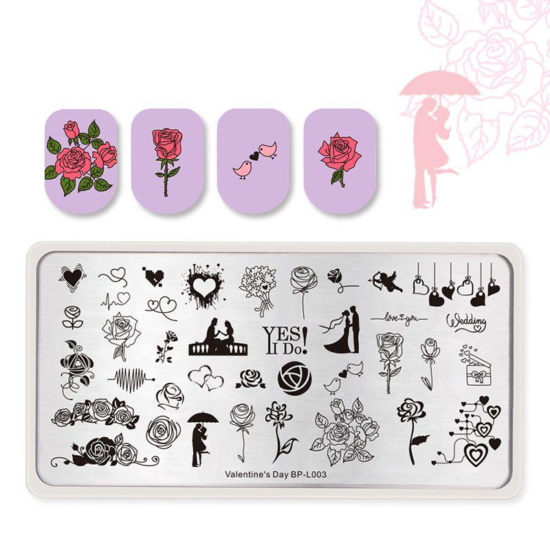 Born Pretty BP-L003 Valentine's Day Stamping Plate