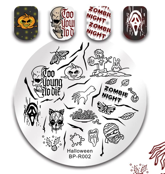 Born Pretty BP-R002 Halloween Stamping Plate