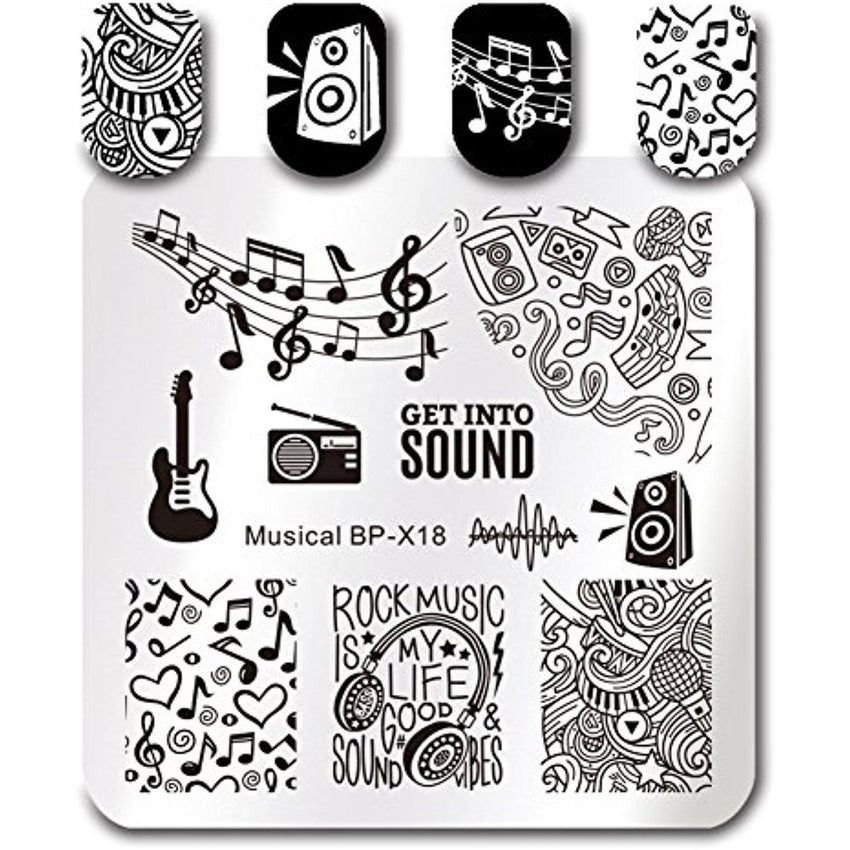 Born Pretty BP X18 Musical Stamping Plate