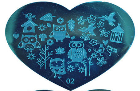 Heart Shaped Stamping Plate #02