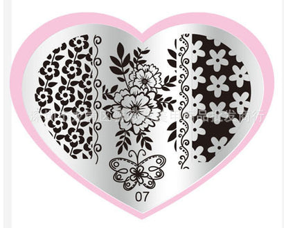 Heart Shaped Stamping Plate #07