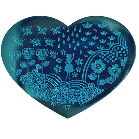 Heart Shaped Stamping Plate #17
