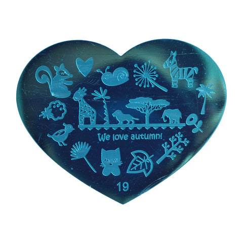 Heart Shaped Stamping Plate #19