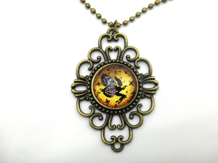 Jewelry - Hand Painted Fairy Necklace