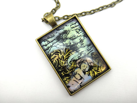 Jewelry/Necklace - Hand Painted Angel Necklace
