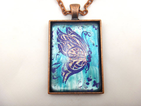 Jewelry/Necklace - Hand Painted Butterfly Necklace