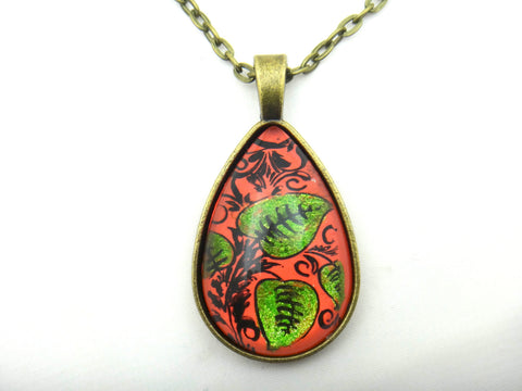 Jewelry/Necklace - Hand Painted Coral Necklace