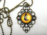 Jewelry/Necklace - Hand Painted Luau Girl Necklace
