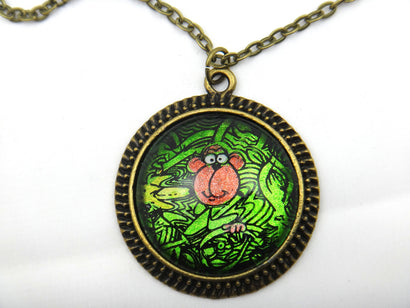 Jewelry/Necklace - Hand Painted Monkey Necklace