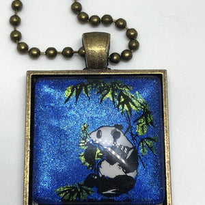 Jewelry/Necklace - Hand Painted Panda Necklace