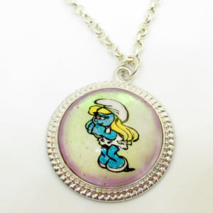 Jewelry/Necklace - Hand Painted Smurfette Necklace