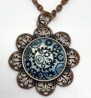 Jewelry/Necklace - Hand Painted Steampunk Necklace