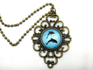 Jewelry/Necklace - Holographic Dolphin Necklace