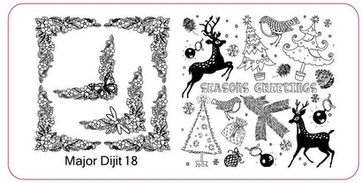 Major Dijit 18 Stamping Plate