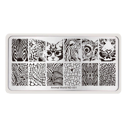 Nicole Diary ND 001 Animal World Stamping Plate