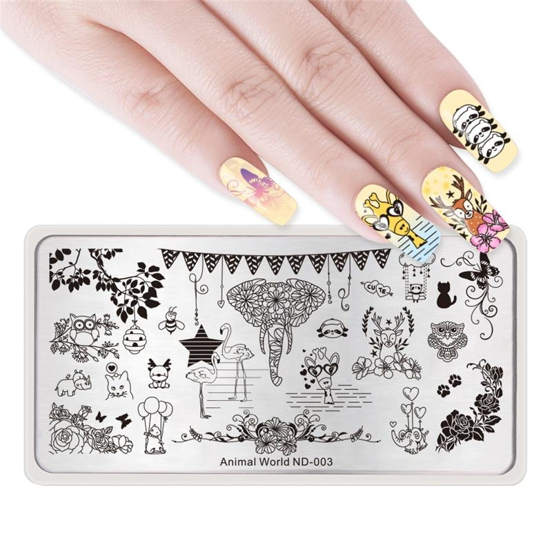 Nicole Diary ND 003 Animal World Stamping Plate
