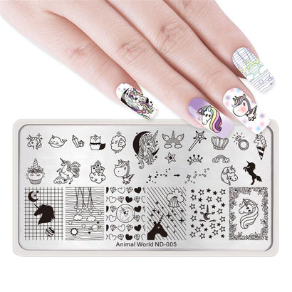 Nicole Diary ND 005 Animal World Stamping Plate