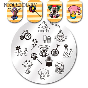 Nicole Diary ND 024 Stamping Plate