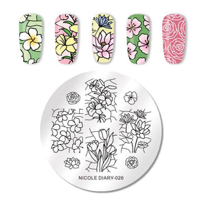 Nicole Diary ND 026 Stamping Plate