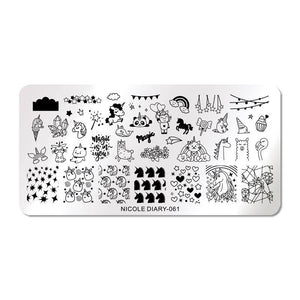 Nicole Diary ND 061 Stamping Plate