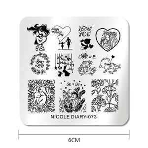 Nicole Diary ND 073 Stamping Plate