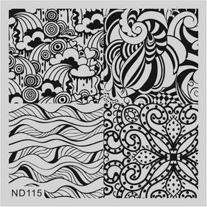 Nicole Diary ND 115 Stamping Plate