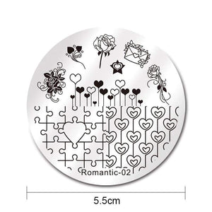 Nicole Diary ND Romantic 02 Stamping Plate