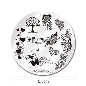 Nicole Diary ND Romantic 05 Stamping Plate