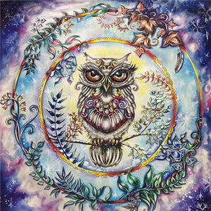 Psychedelic Owl Diamond Painting Kit