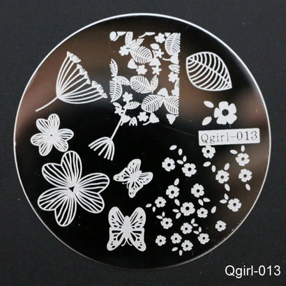 QGirl  Stamping Plate 013