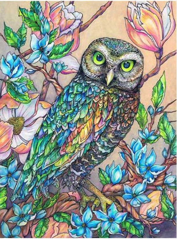 Stained Glass Owl Diamond Painting Kit